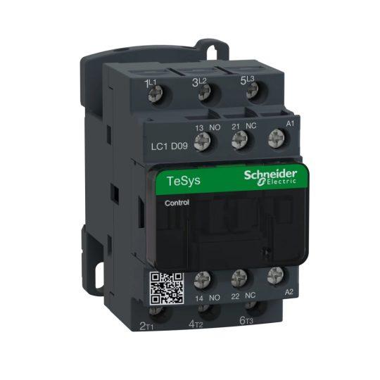 Schneider Electric, TeSys D, LC1D12S7, Mágneskapcsoló, 5,5kW/12A (400V, AC3), 500V AC 50/60 Hz vezerlés, 1Z+1Ny, csavaros csatlakozás, TeSys D (Schneider LC1D12S7)