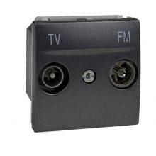 Schneider Unica MGU3.451.12 TV-R aljzat, végzáró, 2 modulos, grafit burkolattal, keret és rögzítőkeret nélkül, süllyesztett