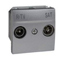 Schneider Unica MGU3.454.30 TV/R-SAT aljzat, végzáró, 1dB, csillagpontos rendszerhez, 2 modulos, alumínium burkolattal, keret és rögzítőkeret nélkül, süllyesztett
