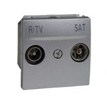 Schneider Unica MGU3.455.30 TV/R-SAT aljzat, végzáró, 9dB, felfűzött rendszerhez, 2 modulos, alumínium burkolattal, keret és rögzítőkeret nélkül, süllyesztett