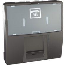 Schneider Unica MGU3.493.12 telefon csatlakozóaljzat, 1xRJ12, 2 modulos, grafit burkolattal, keret és rögzítőkeret nélkül, süllyesztett
