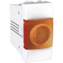 Schneider Unica MGU3.775.18A jelzőlámpa, narancs színű, 1 modulos, fehér burkolattal, keret és rögzítőkeret nélkül, süllyesztett
