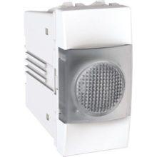 Schneider Unica MGU3.775.18T jelzőlámpa, fehér színű, 1 modulos, fehér burkolattal, keret és rögzítőkeret nélkül, süllyesztett