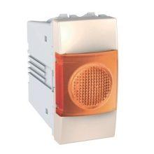 Schneider Unica MGU3.775.25A jelzőlámpa, narancs színű, 1 modulos, krém burkolattal, keret és rögzítőkeret nélkül, süllyesztett