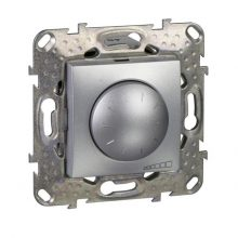 Schneider Unica MGU5.512.30ZD forgatógombos fényerőszabályzó, alumínium burkolattal, 40-1000 W/VA, burkolattal, keret nélkül, süllyesztett, 250V