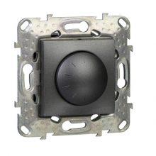 Schneider Unica MGU5.513.12 forgatógombos fényerőszabályzó, grafit burkolattal, LED 40-400 W/VA, keret nélkül, süllyesztett, 250V