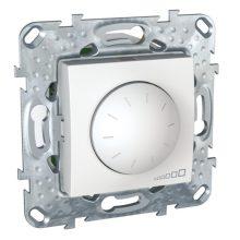 Schneider Unica MGU5.513.18 forgatógombos fényerőszabályzó, fehér burkolattal, LED 40-400 W/VA, keret nélkül, süllyesztett, 250V