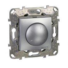 Schneider Unica MGU5.513.30 forgatógombos fényerőszabályzó, alumínium burkolattal, LED 40-400 W/VA, keret nélkül, süllyesztett, 250V