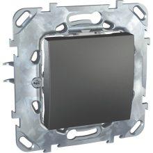 Schneider Unica MGU50.201.12Z egypólusú kapcsoló (101), grafit burkolattal, keret nélkül, rugós bekötés, süllyesztett, 10A 250V