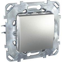 Schneider Unica MGU50.201.30Z egypólusú kapcsoló (101), alumínium burkolattal, keret nélkül, rugós bekötés, süllyesztett, 10A 250V