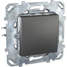 Schneider Unica MGU50.203.12Z váltókapcsoló (106), grafit burkolattal, keret nélkül, rugós bekötés, süllyesztett, 10A 250V