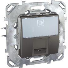Schneider Unica MGU50.421.12Z informatikai csatlakozóaljzat, 1xRJ45, Cat5e UTP, grafit burkolattal, keret nélkül, süllyesztett