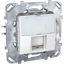 Schneider Unica MGU50.425.18Z informatikai csatlakozóaljzat, 1xRJ45, Cat6 UTP, fehér burkolattal, keret nélkül, süllyesztett
