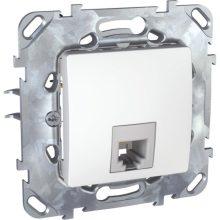 Schneider Unica MGU50.492.18Z telefon csatlakozóaljzat 1xRJ11, fehér burkolattal, keret nélkül, süllyesztett