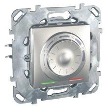 Schneider Unica MGU50.501.30Z szobatermosztát, alumínium burkolattal, keret nélkül, süllyesztett, 8A 250V
