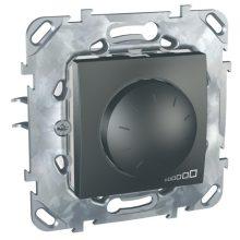 Schneider Unica MGU50.511.12Z forgatógombos fényerőszabályzó, grafit burkolattal, 40-400 W/VA, váltókapcsolásba köthető, keret nélkül, süllyesztett, 250V