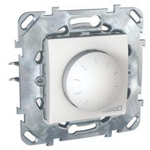 Schneider Unica MGU50.511.18Z forgatógombos fényerőszabályzó, fehér burkolattal, 40-400 W/VA, váltókapcsolásba köthető, keret nélkül, süllyesztett, 250V