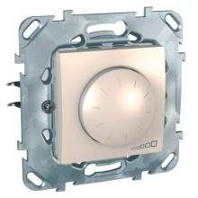 Schneider Unica MGU50.511.25Z forgatógombos fényerőszabályzó, krém burkolattal, 40-400 W/VA, váltókapcsolásba köthető, keret nélkül, süllyesztett, 250V