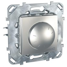 Schneider Unica MGU50.511.30Z forgatógombos fényerőszabályzó, alumínium burkolattal, 40-400 W/VA, váltókapcsolásba köthető, keret nélkül, süllyesztett, 250V