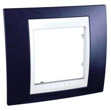 Schneider Unica Plus MGU6.002.842 1-es indigó kék keret fehér betéttel