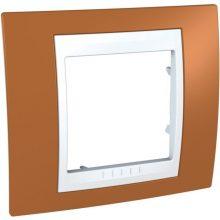 Schneider Unica Plus MGU6.002.869 1-es narancs keret fehér betéttel