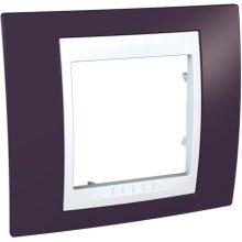 Schneider Unica Plus MGU6.002.872 1-es sötétbordó keret fehér betéttel