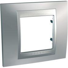 Schneider Unica Top MGU66.002.038 1-es selymes króm keret alumínium betéttel