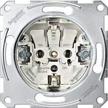 Schneider Merten MTN2300-0000 földelt csatlakozóaljzat (dugalj) betét, 2P+F, süllyesztett, rugós bekötés, 16A 250V (Merten M-Smart, M-Plan, M-Elegance, D-Life)