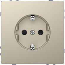 Schneider Merten MTN2300-6033 földelt csatlakozóaljzat (dugalj), gyermekvédelemmel, 2P+F, szahara burkolattal, keret nélkül, süllyesztett, 16A 250V (Merten D-Life)