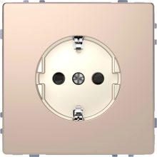 Schneider Merten MTN2300-6051 földelt csatlakozóaljzat (dugalj), gyermekvédelemmel, 2P+F, pezsgő burkolattal, keret nélkül, süllyesztett, 16A 250V (Merten D-Life)