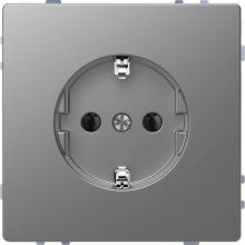Schneider Merten MTN2301-6036 földelt csatlakozóaljzat (dugalj), 2P+F, acél burkolattal, keret nélkül, süllyesztett, 16A 250V (Merten D-Life)