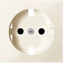 Schneider Merten MTN2330-0344 földelt csatlakozóaljzat (dugalj) burkolat, gyermekvédelemmel, 2P+F, krém , süllyesztett, 16A 250V (Merten M-Smart, M-Plan, M-Elegance)