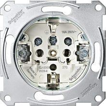 Schneider Merten MTN2300-0000 földelt csatlakozóaljzat (dugalj) betét, 2P+F, süllyesztett, csavaros bekötés, 16A 250V (Merten M-Smart, M-Plan, M-Elegance, D-Life)