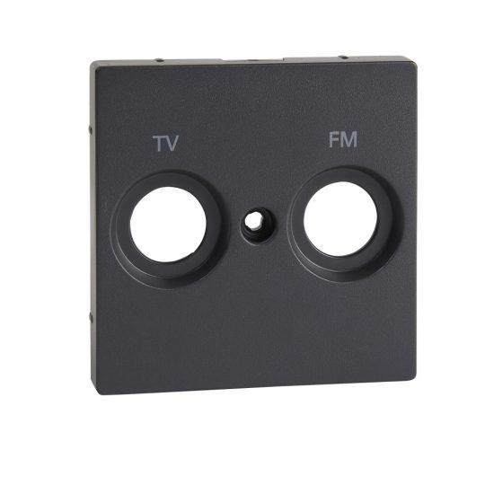Schneider MTN299514 antracit burkolat TV-R csatlakozóaljzat betétekhez, 2 kimenettel, felirattal (Merten M-Smart, M-Plan, M-Elegance)