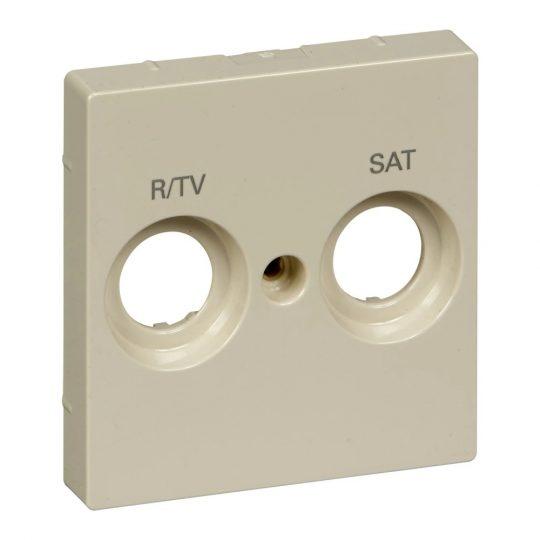 Schneider MTN299844 krém burkolat TV/R-SAT csatlakozóaljzat betétekhez, 2 kimenettel, felirattal (Merten M-Smart, M-Plan, M-Elegance)