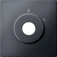 Schneider MTN313814 antracit burkolat 2 állású kulcsos kapcsoló betétekhez (Merten M-Smart, M-Plan, M-Elegance)