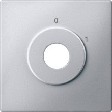 Schneider MTN313860 alumínium burkolat 2 állású kulcsos kapcsoló betétekhez (Merten M-Smart, M-Plan, M-Elegance)