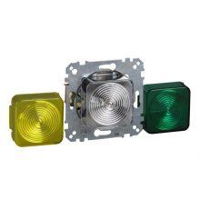 Schneider Merten MTN319017 Jelzőfény (E10-es foglalattal) zöld/sárga/fehér fedlappal, burkolat és keret nélkül (Merten M-Smart, M-Plan, M-Elegance)