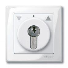 Schneider MTN319519 polárfehér burkolat kulcsos kapcsolókhoz betétekhez (Merten M-Smart, M-Plan, M-Elegance)