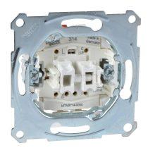 Schneider Merten MTN3714-0000 redőnykapcsoló betét kiegészítő kontakttal, burkolat és keret nélkül, rugós bekötés, süllyesztett 10A 250V