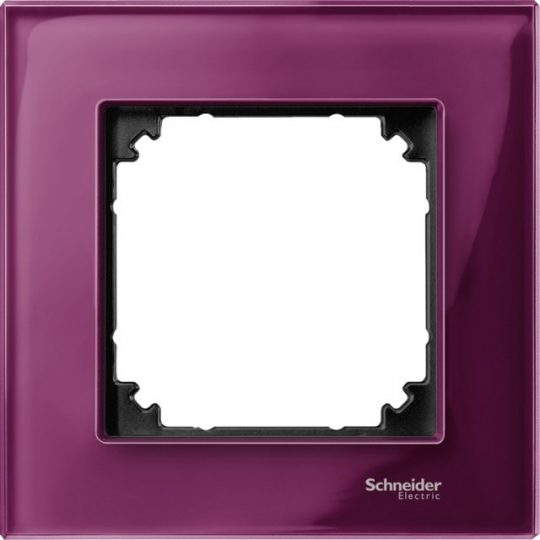 Schneider Merten MTN4010-3206 1-es rubinvörös üvegkeret (Schneider M-Elegance)