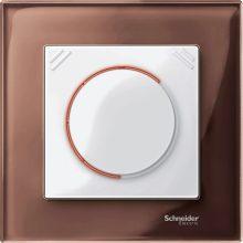 Schneider Merten MTN4010-3215 1-es mahagónibarna üvegkeret (Schneider M-Elegance)