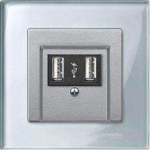 Schneider Merten MTN4010-3260 1-es gyémántfehér üvegkeret (Schneider M-Elegance)