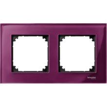 Schneider Merten MTN4020-3206 2-es rubinvörös keret függőleges és vízszintes elhelyezéssel (Schneider M-Elegance)
