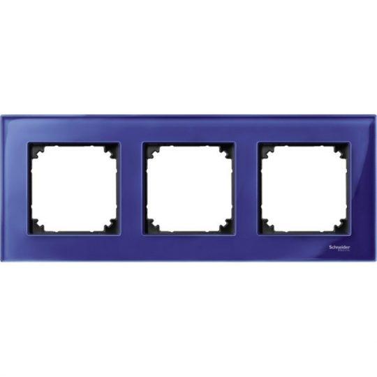 Schneider Merten MTN4030-3278 3-as zafírkék keret függőleges és vízszintes elhelyezéssel (Schneider M-Elegance)