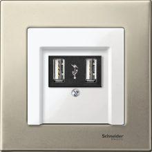 Schneider Merten MTN403105 1-es titánium fémkeret (Schneider M-Elegance)