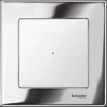 Schneider Merten MTN403139 1-es króm fémkeret (Schneider M-Elegance)