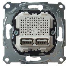 Schneider Merten MTN4366-0100 dupla USB töltő 2.1A burkolat és keret nélkül