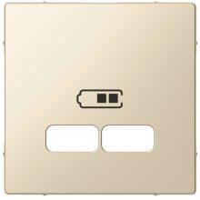 Schneider MTN4367-0344 krém burkolat USB töltő betétekhez (Merten M-Smart, M-Plan, M-Elegance)