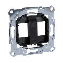 Schneider Merten MTN4566-0003 fekete rögzítőkeret, 2xRJ45 moduláris aljzatokhoz
